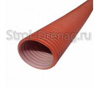 Труба, дренажная двухслойная Политэк 3000 d117/100 SN8 (6 м) с перфорацией