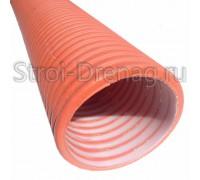 Труба, дренажная двухслойная Политэк 3000 d368/315 SN8 (6 м) с перфорацией