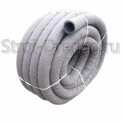 Труба дренажная ПНД, перфорированная в геотекстиле d110 мм (50м)
