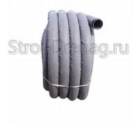Труба дренажная ПНД, перфорированная в геотекстиле d63 мм (50м)
