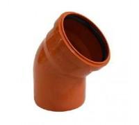 Отвод для наружной канализаций d110 мм 45°