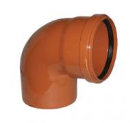Отвод для наружной канализаций d110 мм 90°