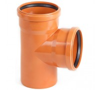 Тройник для наружной канализации d160 мм 90°