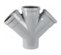 Крестовина одноплоскостная для внутренней канализации d110 х 110 45°