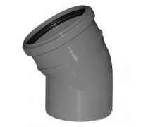 Отвод для внутренней канализации d110 30°