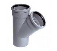 Тройник для внутренней канализации d110 мм 45°