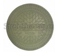 Люк полимер-композитный d-425 мм зелёный