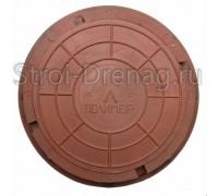 Люк универсальный, круглый полимерный красный d-455/330 мм h-55 мм
