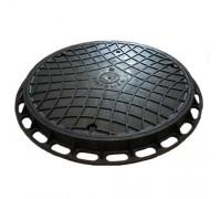 Люк канализационный Gidrolica Garden пластиковый тип Л черный (круглый)