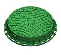 Люк канализационный Gidrolica Garden пластиковый тип Л зеленый (круглый)
