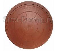 Люк, круглый канализационный красный 750/575 мм h-100 мм