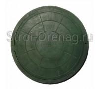 Люк, круглый канализационный зеленый 750/575 мм h-100 мм