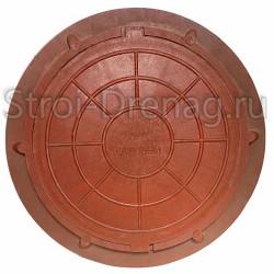 Люк садовый, полимерный красный 750/545 мм h-50 мм