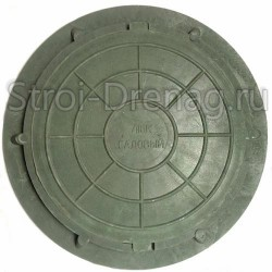 Люк садовый, полимерный зелёный 750/545 мм h-50 мм