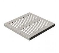 Решетка штампованная стальная AquaStreet к дождеприёмнику 30 х 30 см