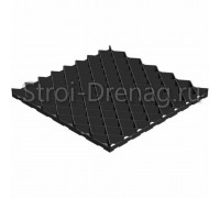 Решетка газонная РГ-60.60.4 пластиковая черная Gidrolica