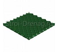 Решетка газонная РГ-60.60.4 пластиковая зелёная Gidrolica
