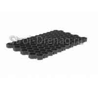 Решетка газонная РГ-70.40.3,2 пластиковая черная Gidrolica