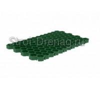 Решетка газонная РГ-70.40.3,2 пластиковая зелёная Gidrolica