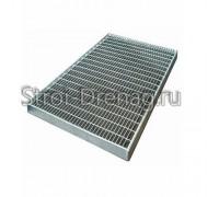 Решетка Gidrolica Step Pro 490 х 990 мм - стальная ячеистая оцинкованная