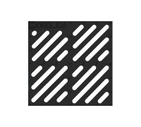 Решетка водоприемная Gidrolica Point РВ-28,5.28,5 - чугунная щелевая, кл C250